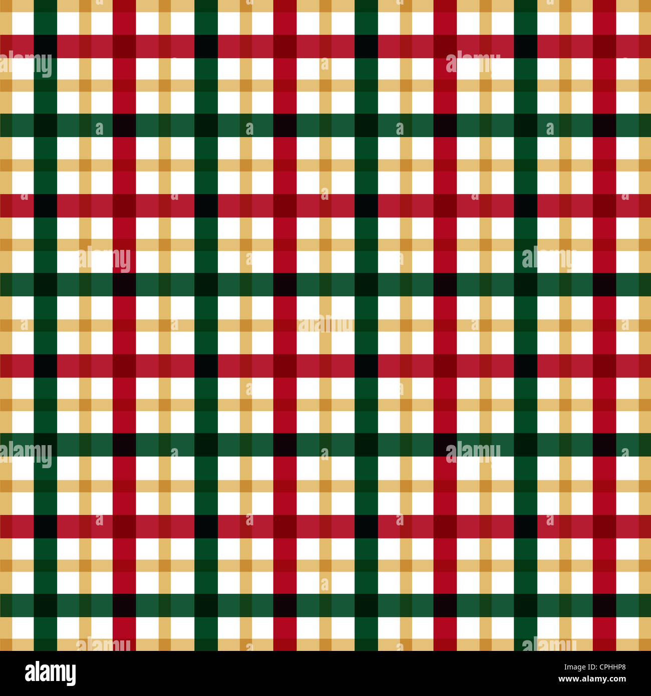 Green red and gold plaid pattern Stock Photo