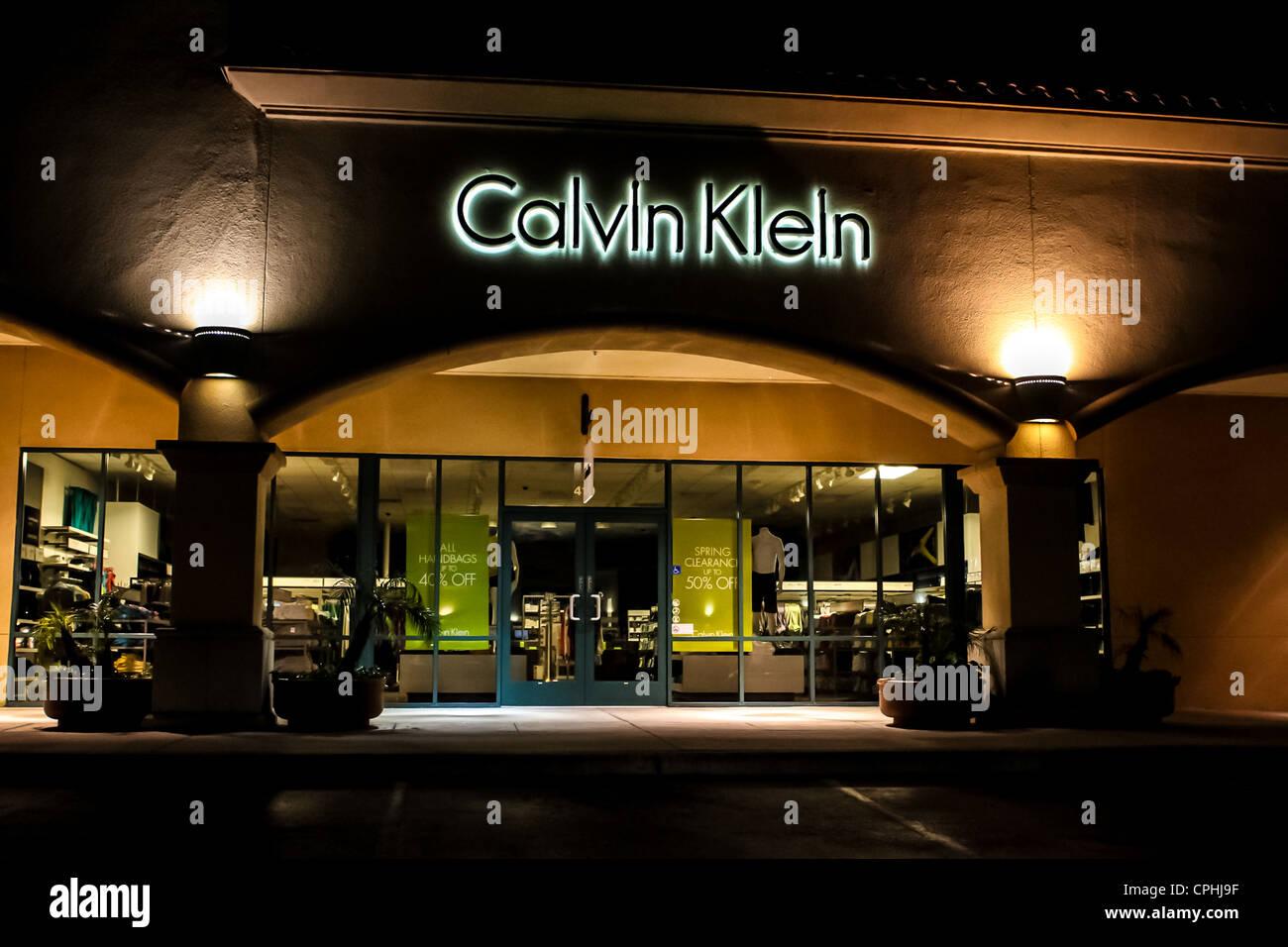 calvin klein outlet store in camarillo california stock photo