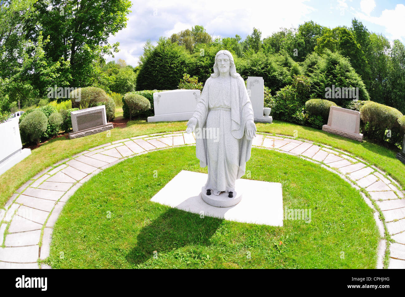 Display of statuary and monuments at Rock of Ages, Barre, Vermont - Stock Image