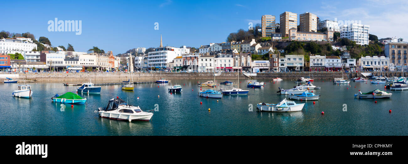 The inner harbour at Torquay Devon England UK - Stock Image
