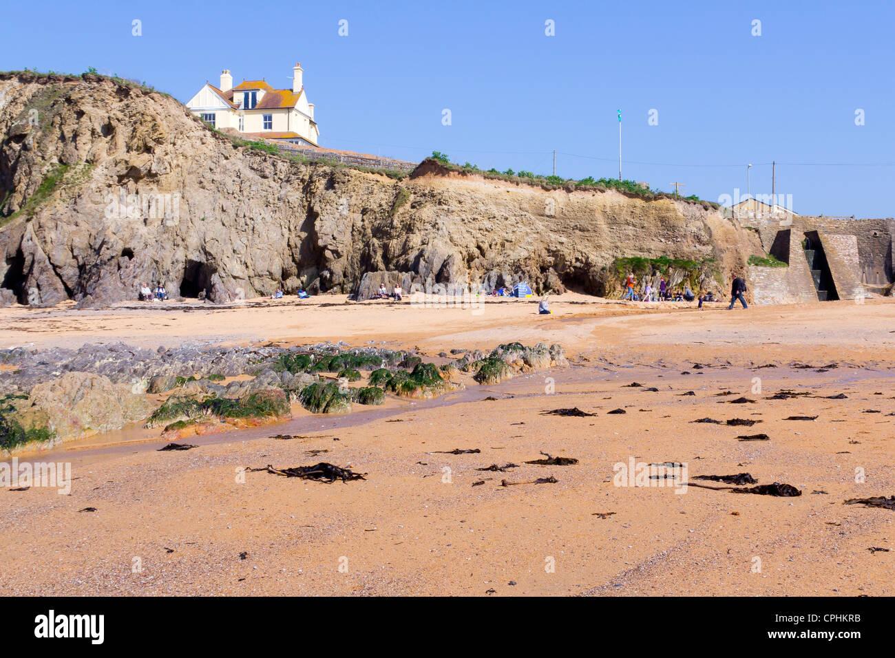 The beach at Hope Cove, South Hams Devon England UK - Stock Image