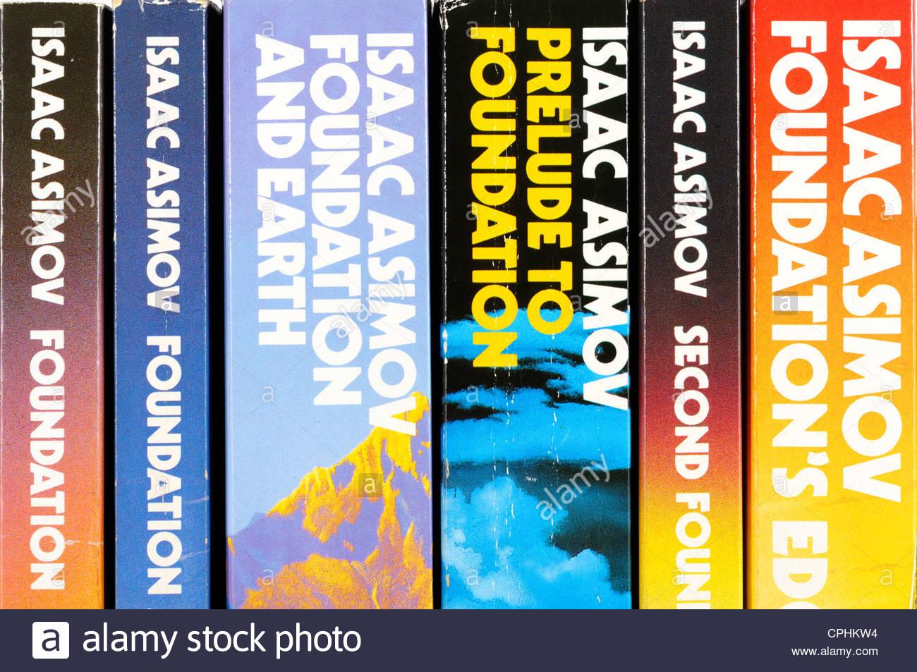Isaac Asimov, Foundation, novels, England - Stock Image
