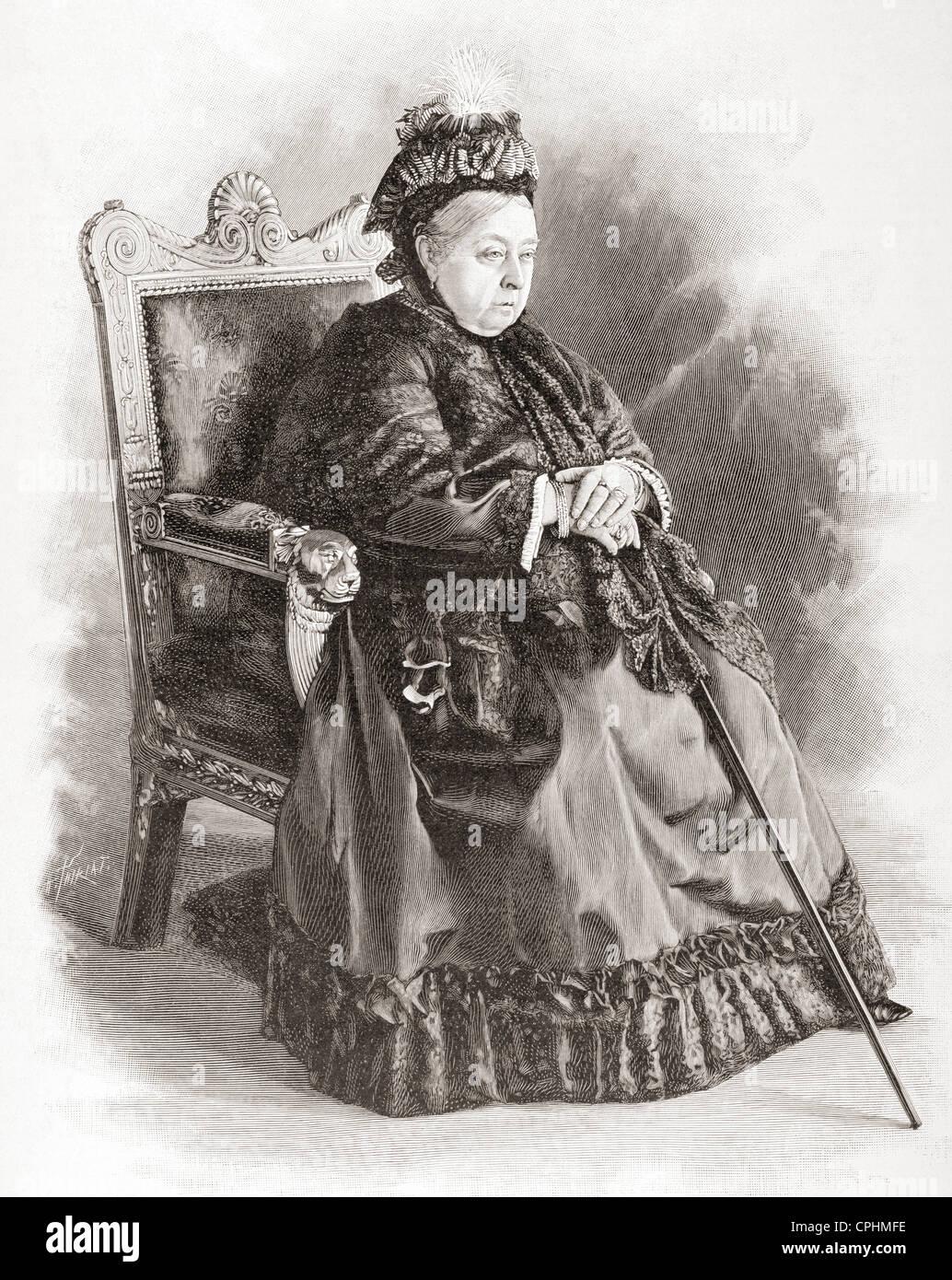 Queen Victoria, Alexandrina Victoria, 1819 – 1901. - Stock Image
