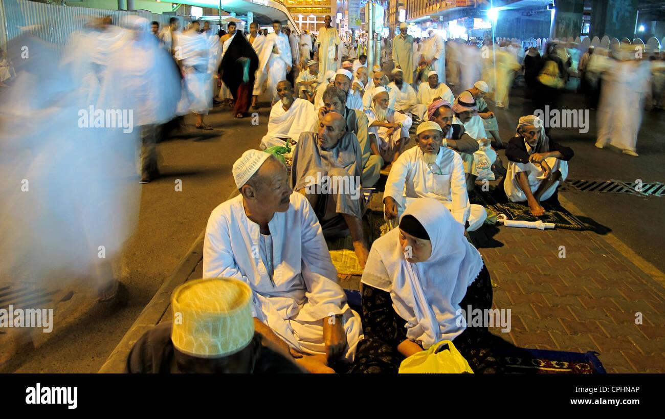 Hajj pilgrimage to Mecca Saudi Arabia - Stock Image