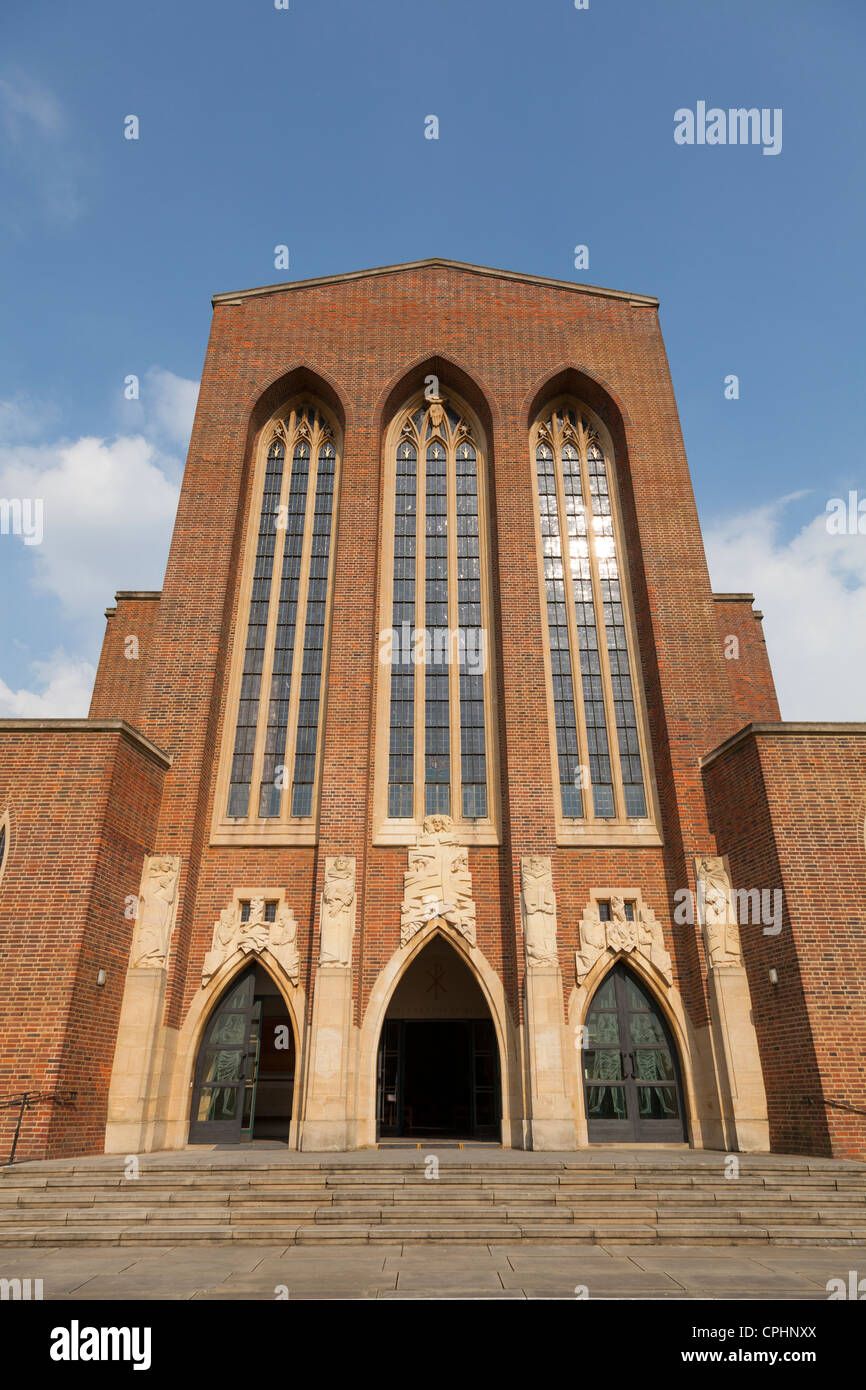 Exterior views of Guildford Cathedral Stock Photo