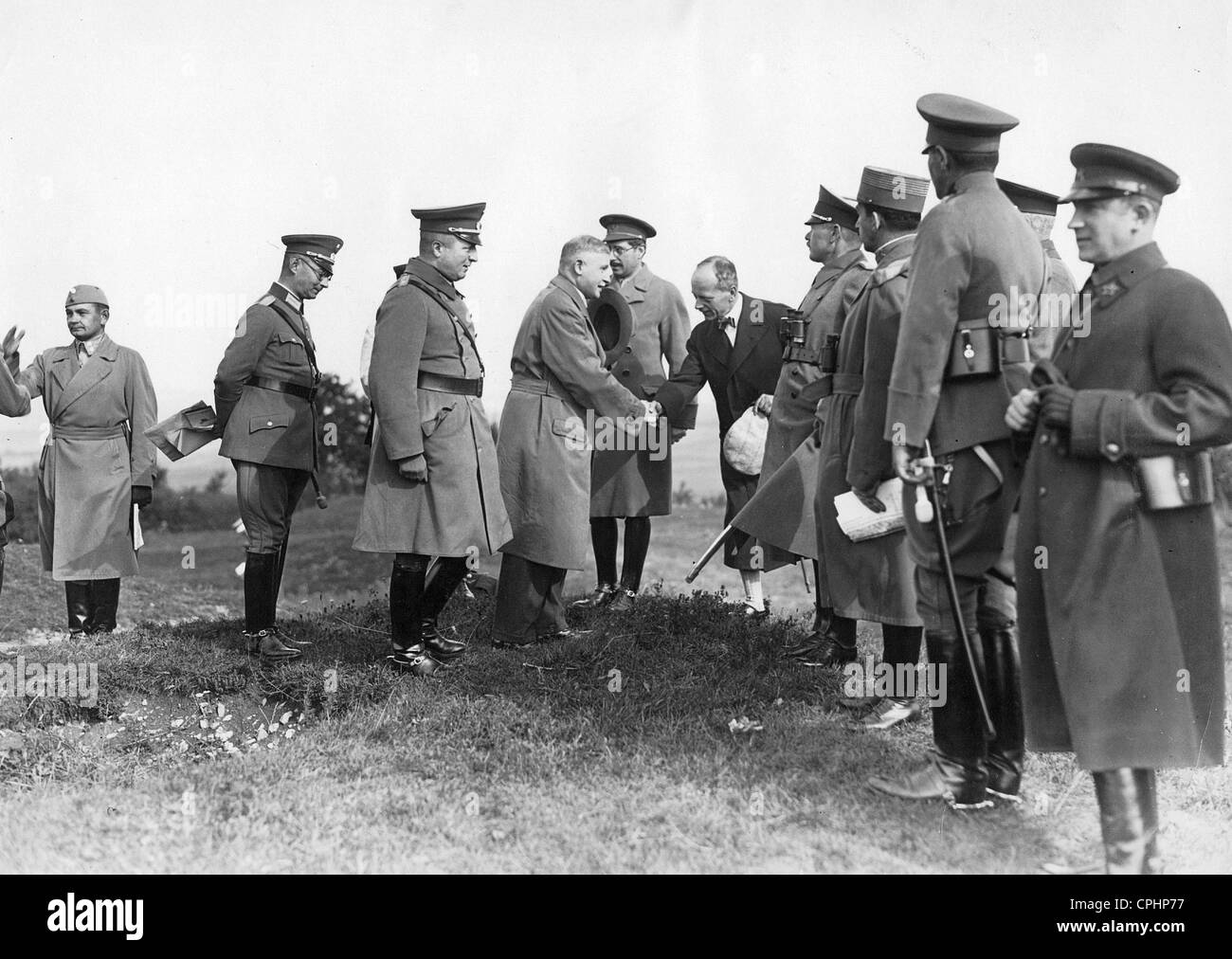 Foreign officers visit a manoeuvre of the Reichswehr, 1929 - Stock Image