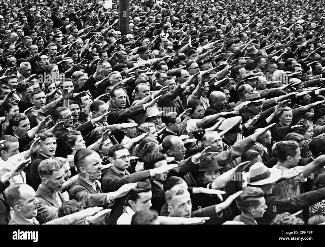 Image result for forced salutes hitler