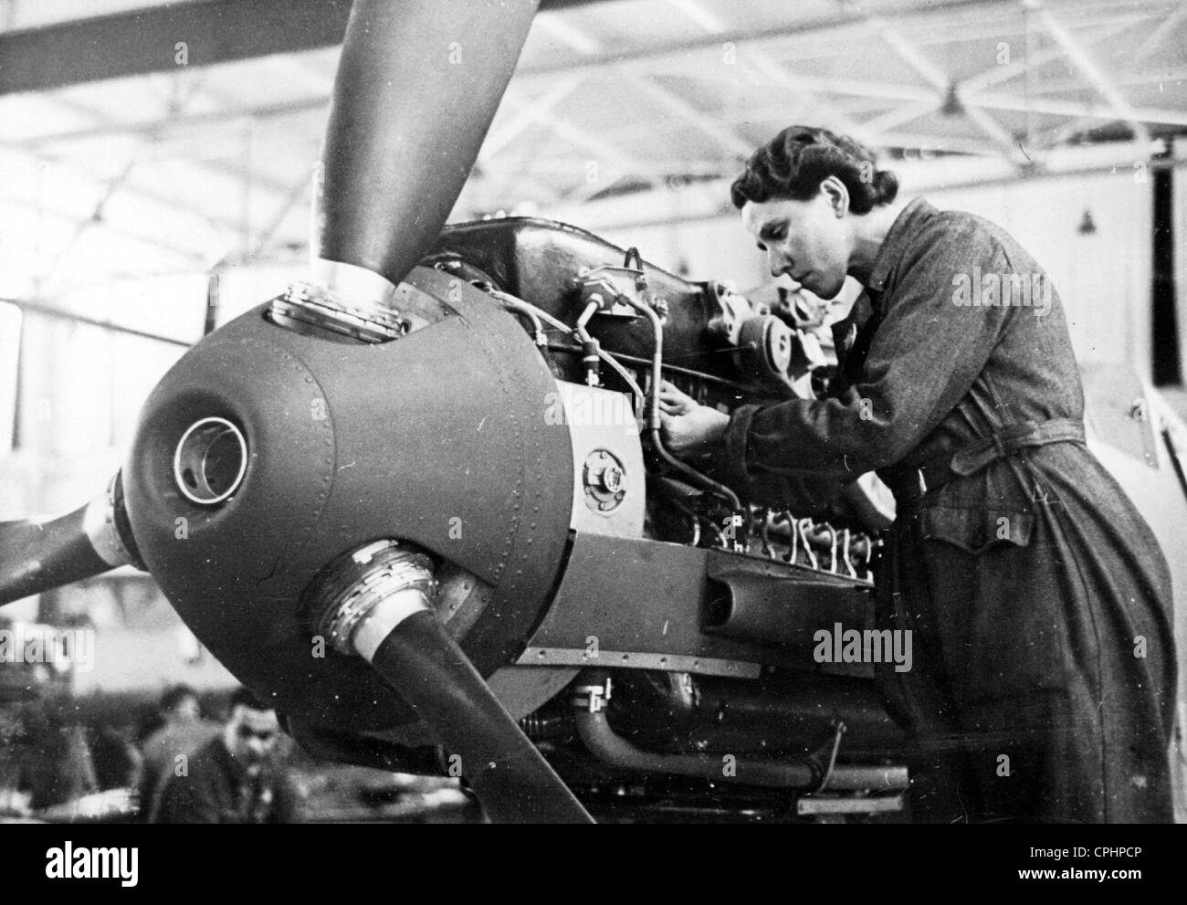 Production of Fighter Planes in Germany - Stock Image