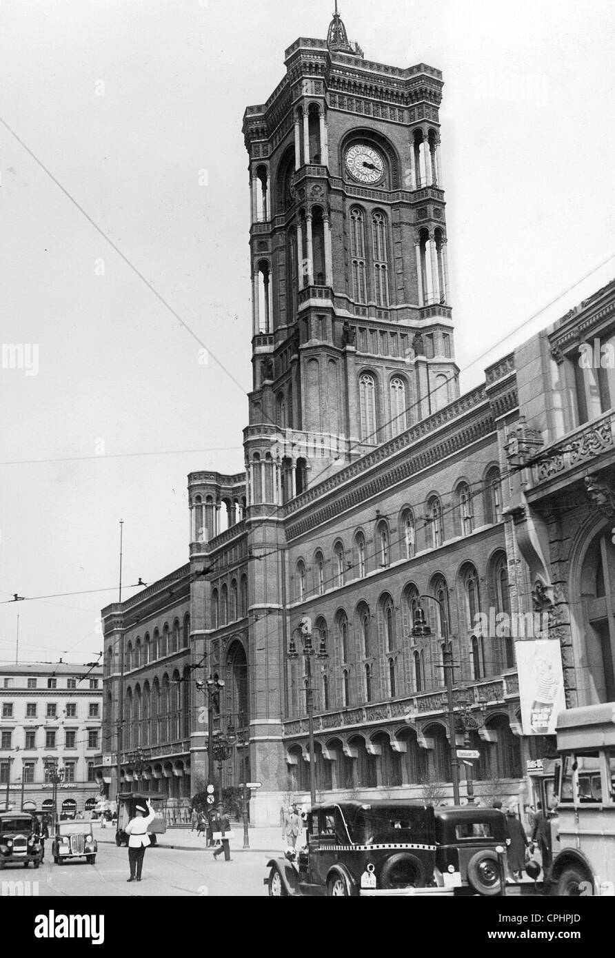 Rotes Rathaus in Berlin, 1937 - Stock Image