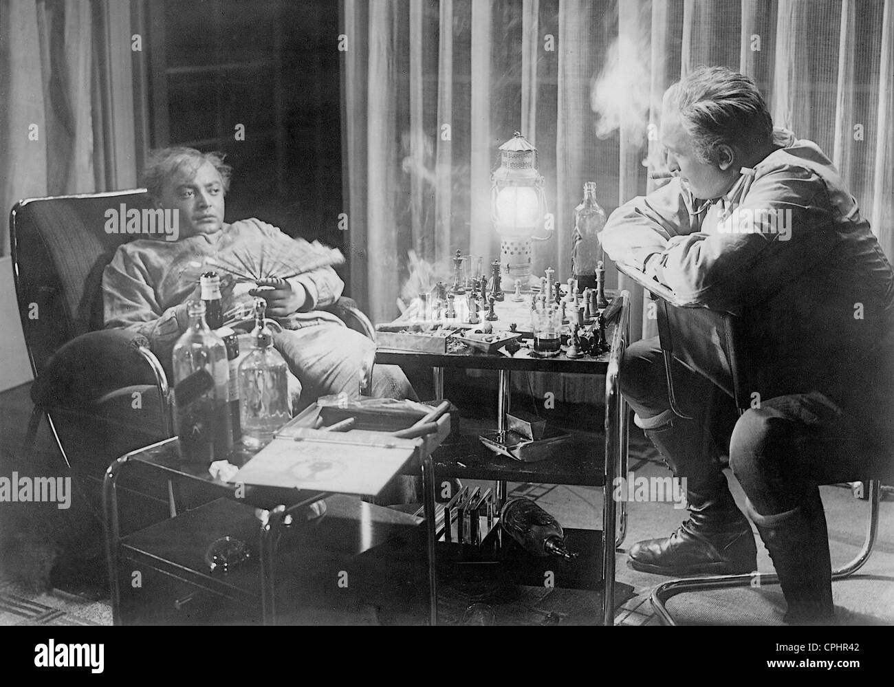 Peter Lorre and Hans Albers in 'F.P.1 Doesn't Answer', 1932 - Stock Image