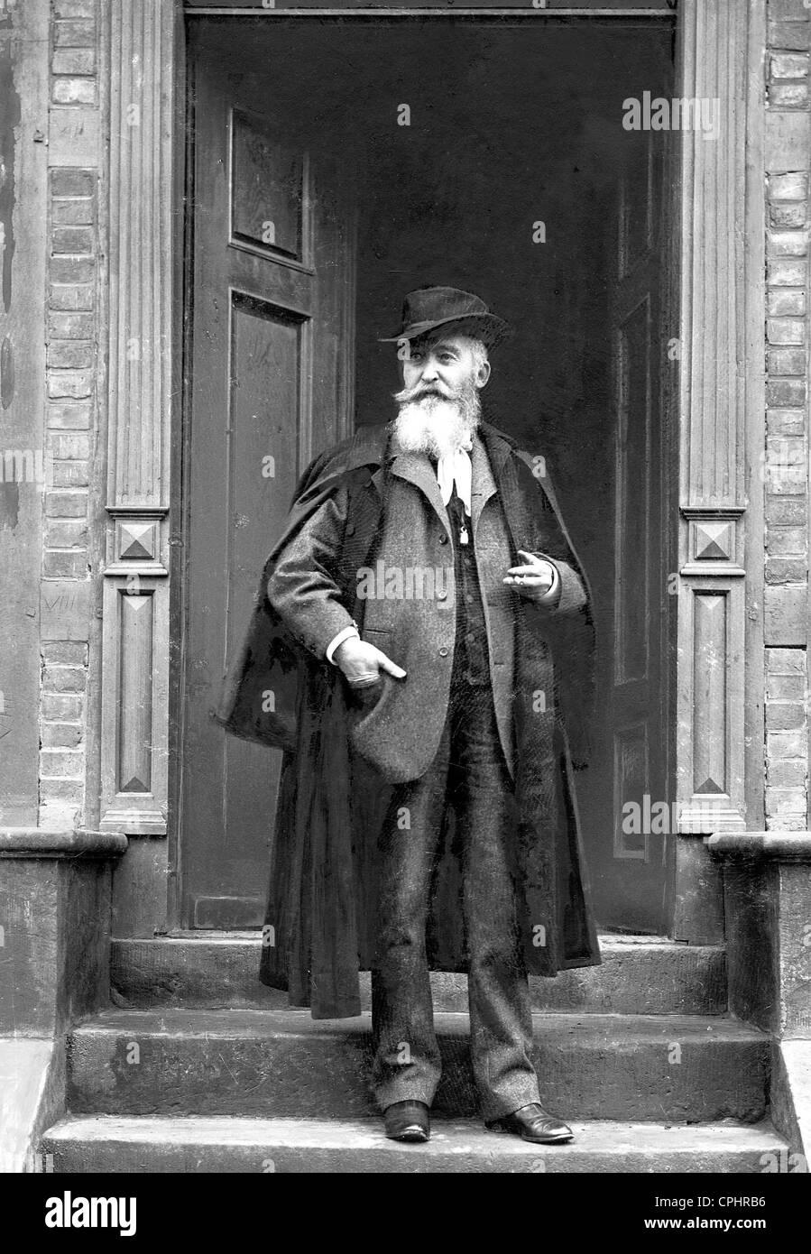 German writer, painter and illustrator Wilhelm Busch (1832-1908). Stock Photo