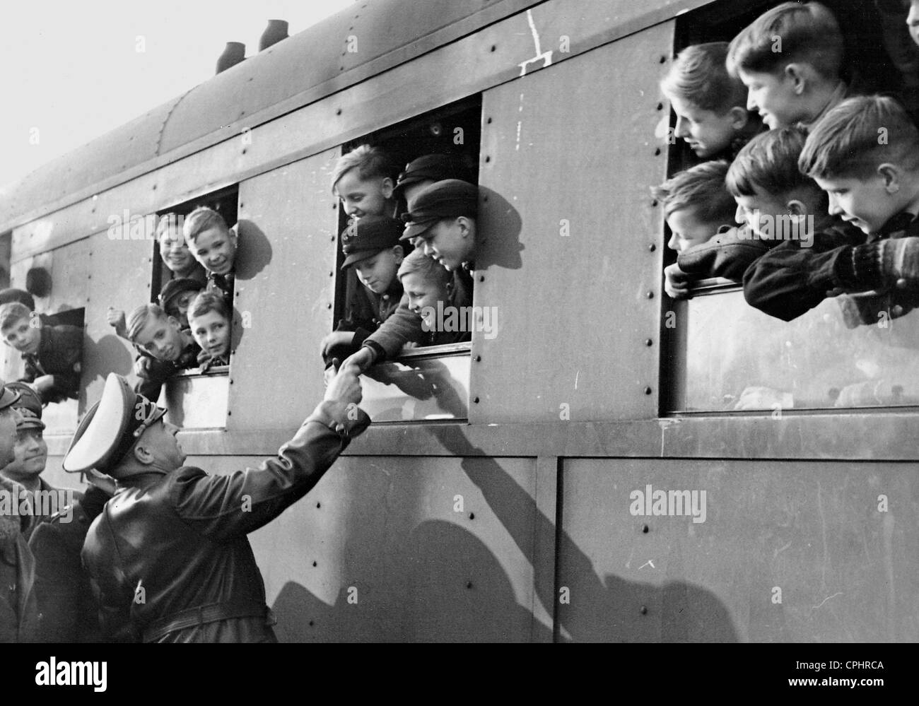 Kinderlandverschickung (sending children to the countryside) in the Government General of Poland, 1943 - Stock Image