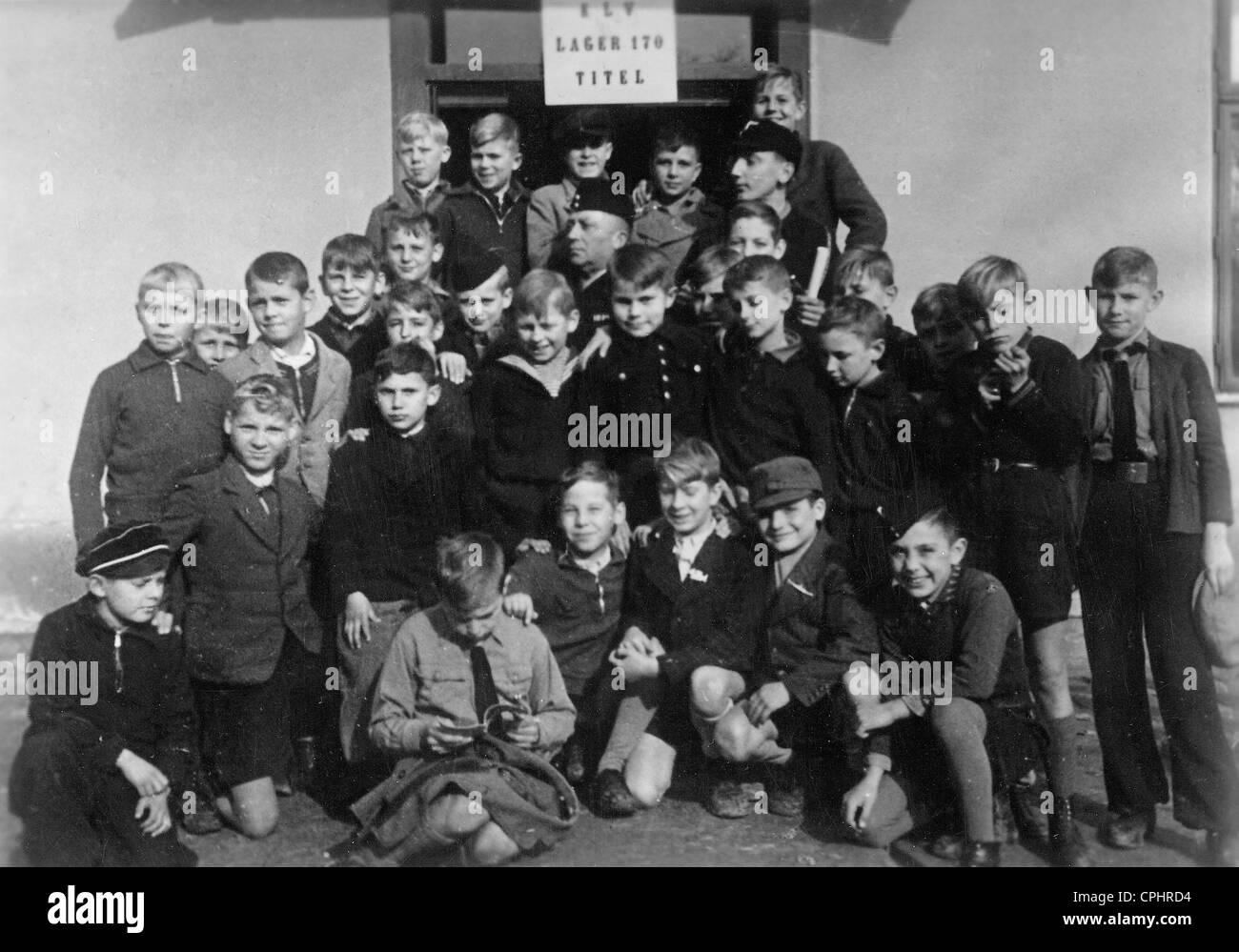 Kinderlandverschickung (sending of children to the land) to Hungary, 1942 Stock Photo