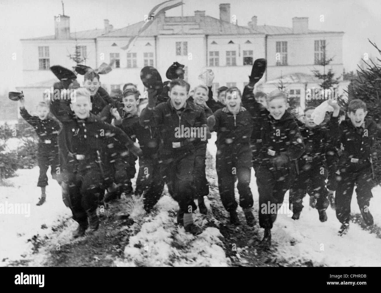 Kinderlandverschickung (sending children to the countryside), 1940 Stock Photo