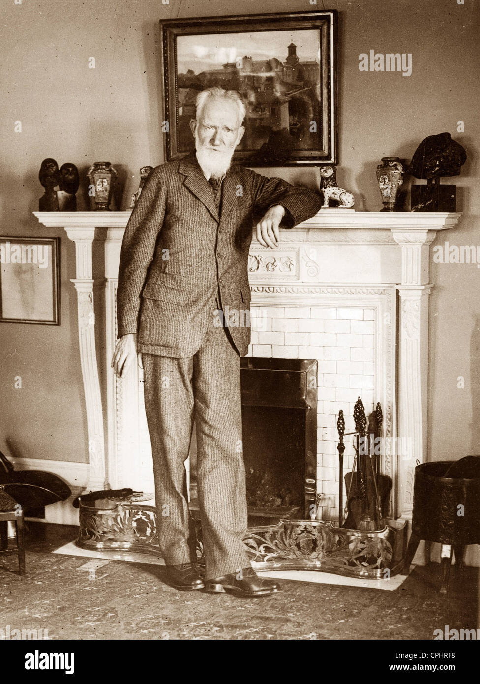 George Bernard Shaw (1856-1950) Irish playwright, music & literary critic. In 1925 Shaw was awarded Nobel Prize - Stock Image