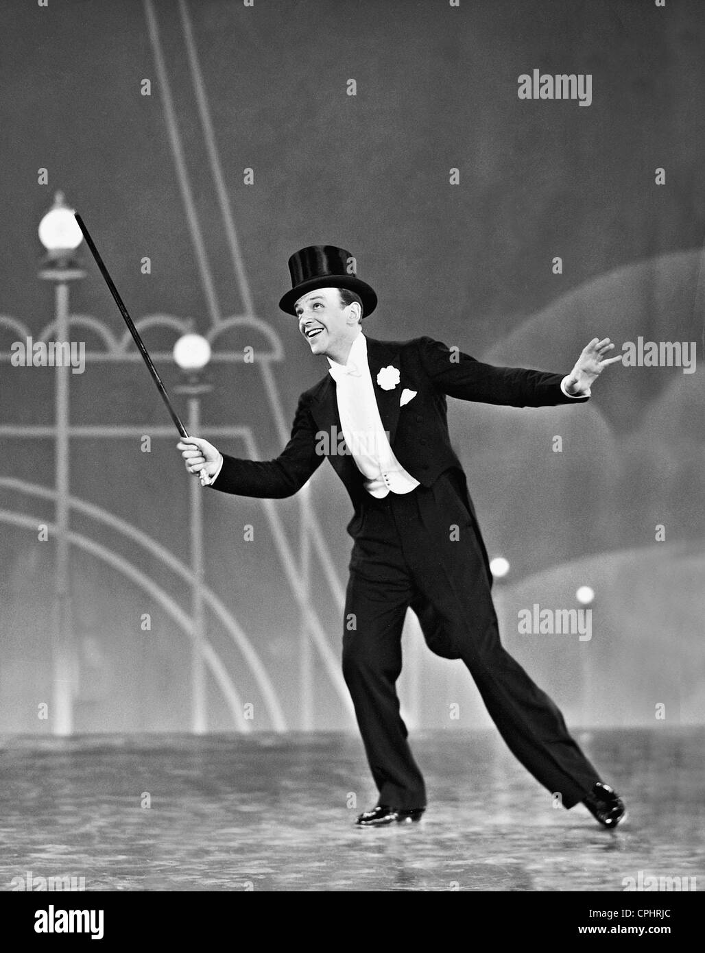 Fred Astaire in 'Top Hat,' directed by Mark Sandrich (USA, 1935). - Stock Image