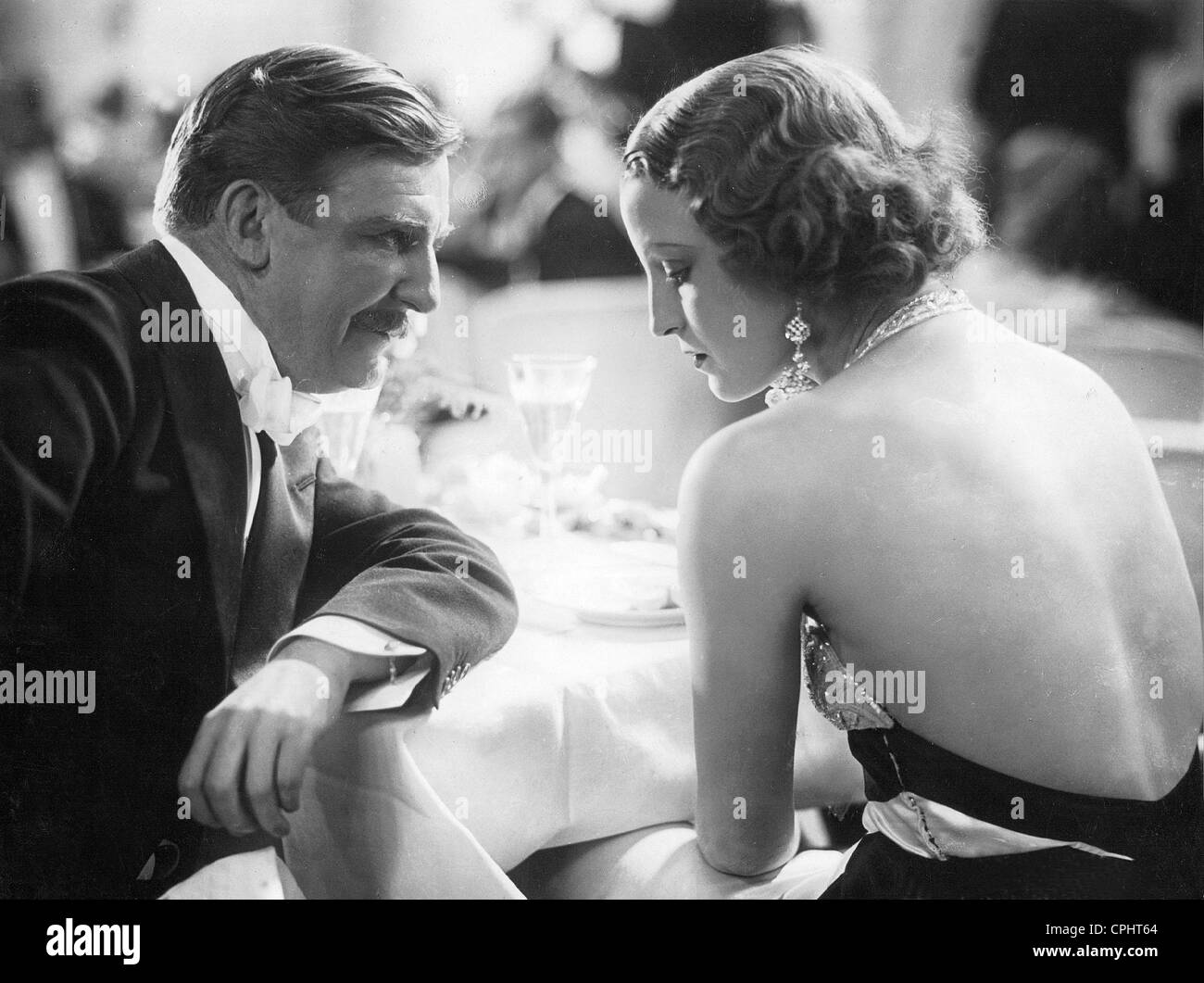 Rudolf Forster and Brigitte Helm in 'The Countess of Monte Christo', 1932 - Stock Image