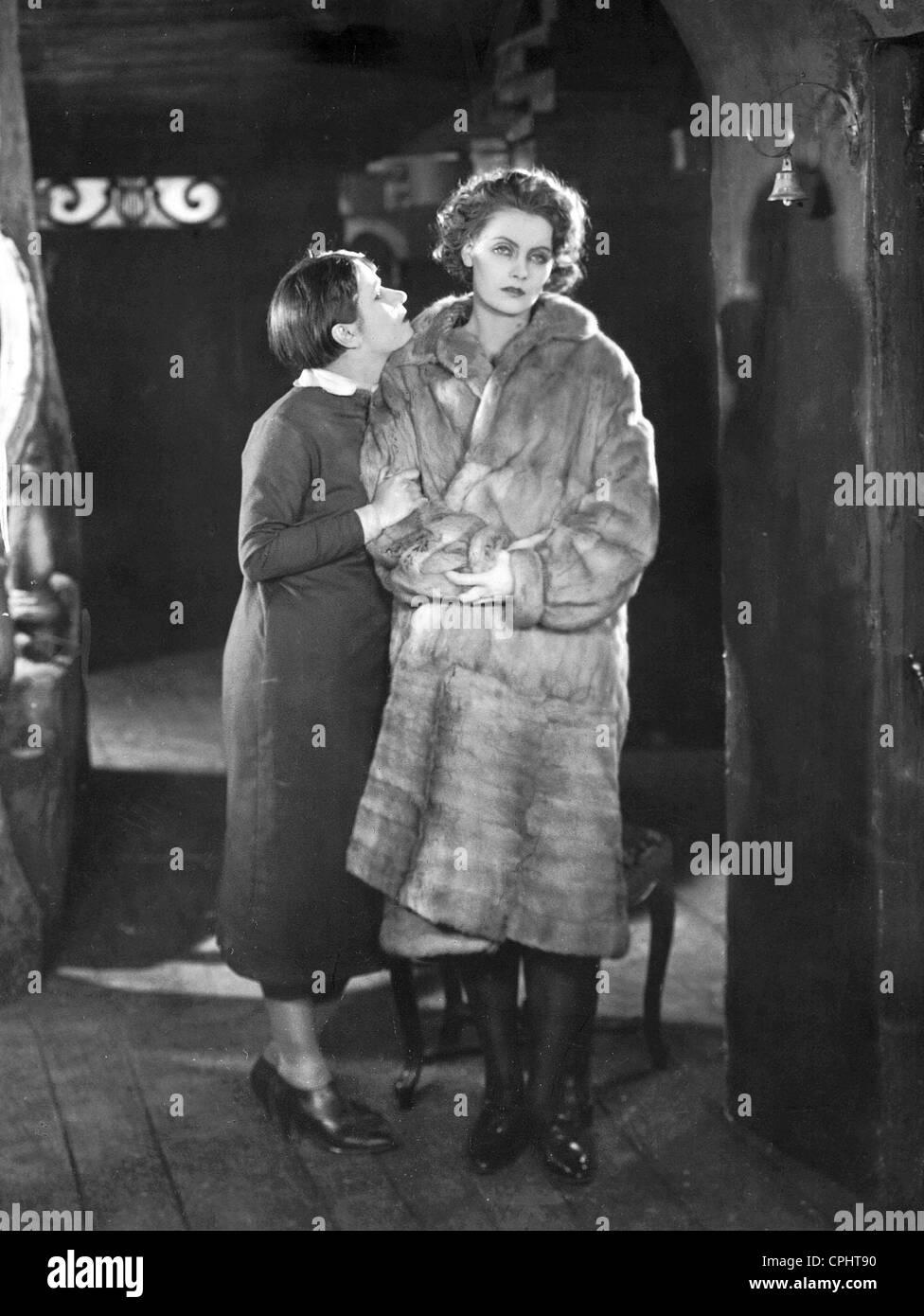 Valeska Gert and Greta Garbo in 'The Joyless Street', 1925 Stock Photo