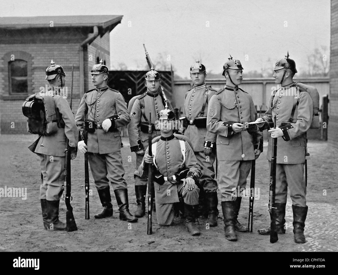 Field-gray uniforms of the German soldiers, 1910 - Stock Image