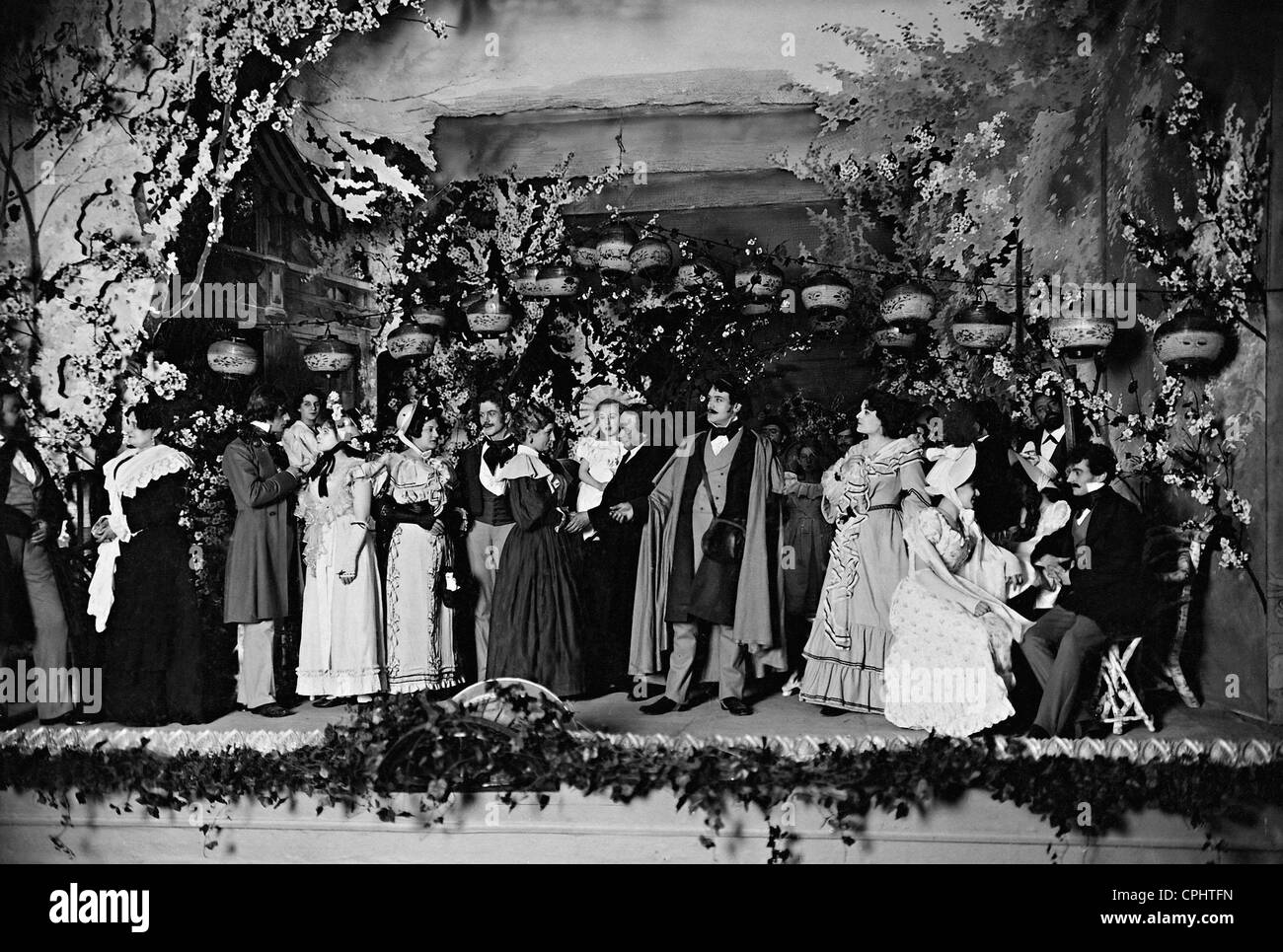 The premiere of 'Love's Comedy', 1900 - Stock Image