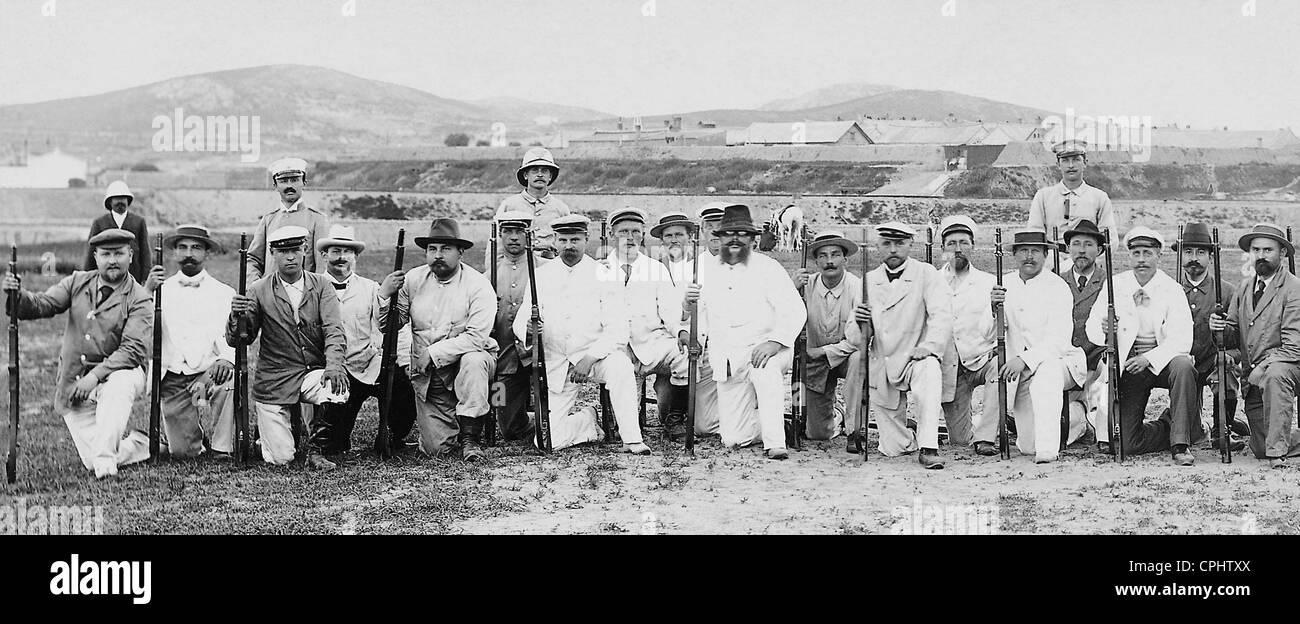 Volunteer militia of Tsingtao, 1900 - Stock Image