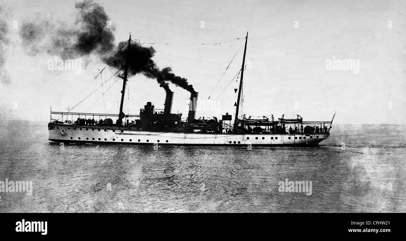 Gunboat 'Eber', 1911 - Stock Image
