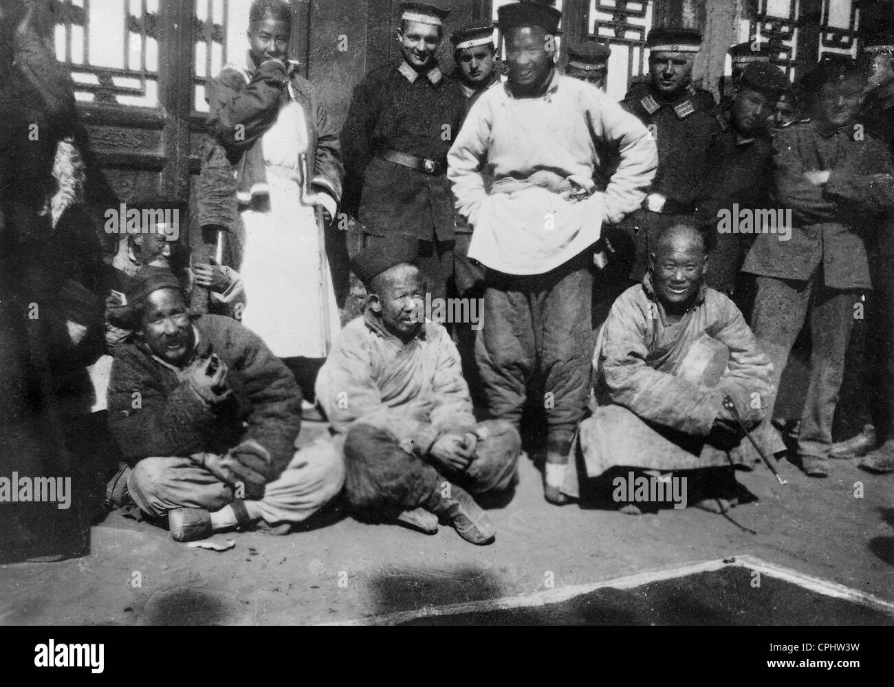 Chinese executioners during the Boxer Rebellion, 1900 - Stock Image