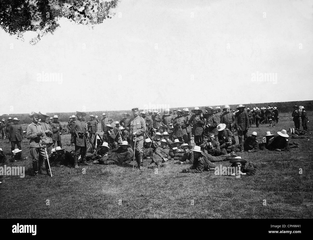German volunteers during the Boxer Rebellion, 1900 - Stock Image