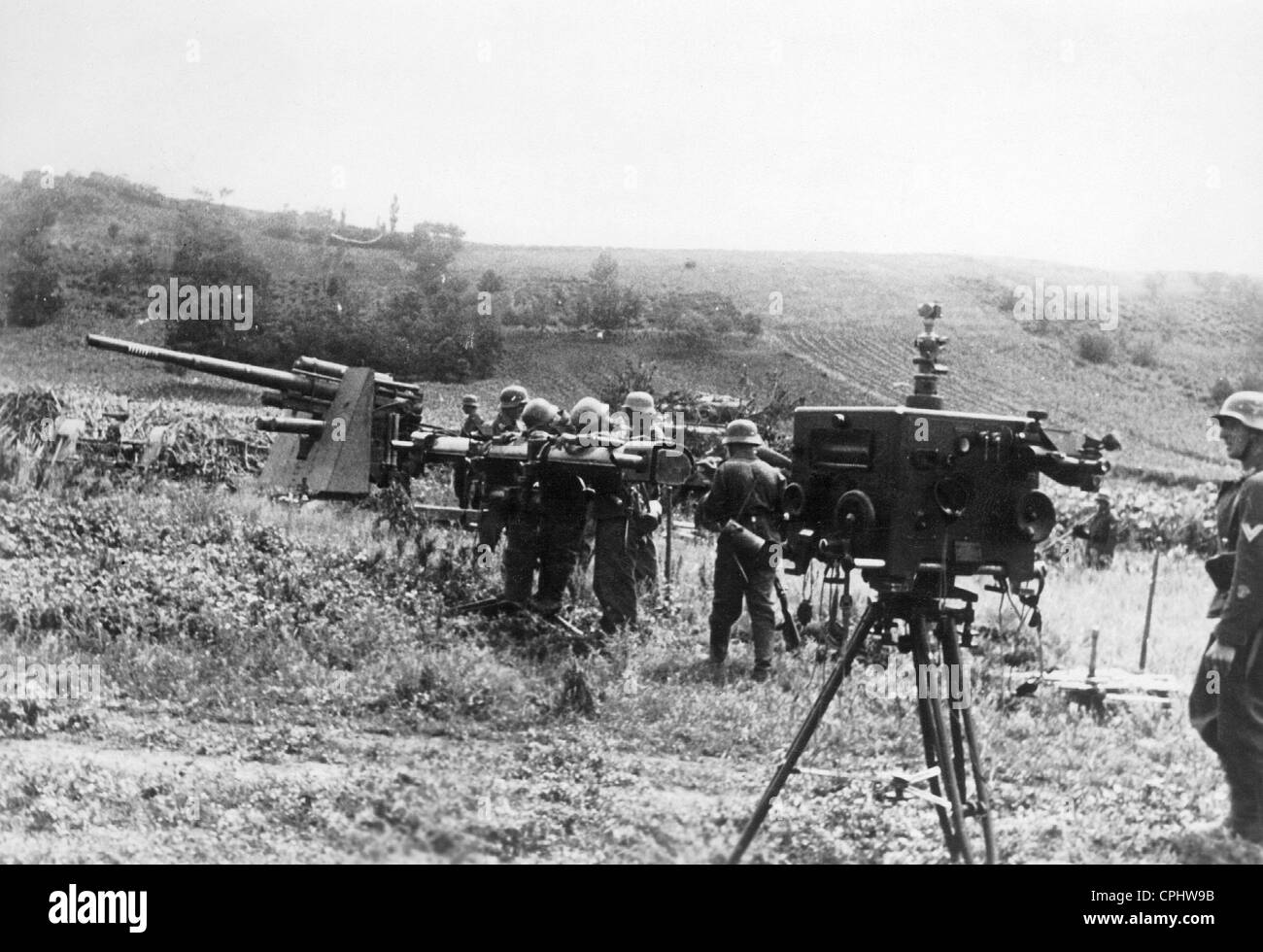 German Flak at the Eastern Front, 1941 - Stock Image