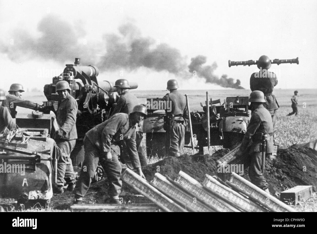 German 8,8cm Flak at the Eastern Front, 1942 - Stock Image