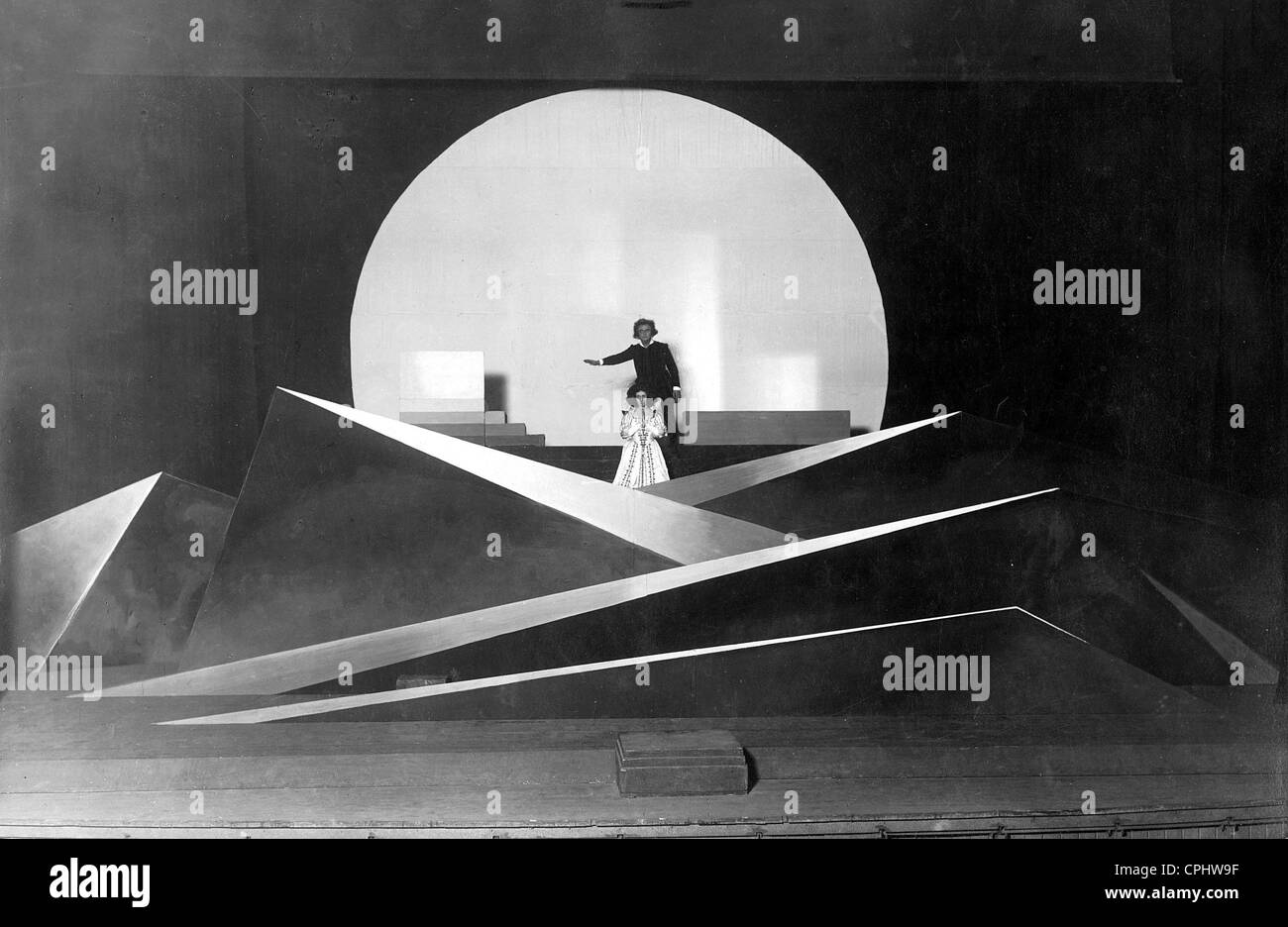 'Don Juan und Faust' with stage design by Oskar Schlemmer, 1925 - Stock Image