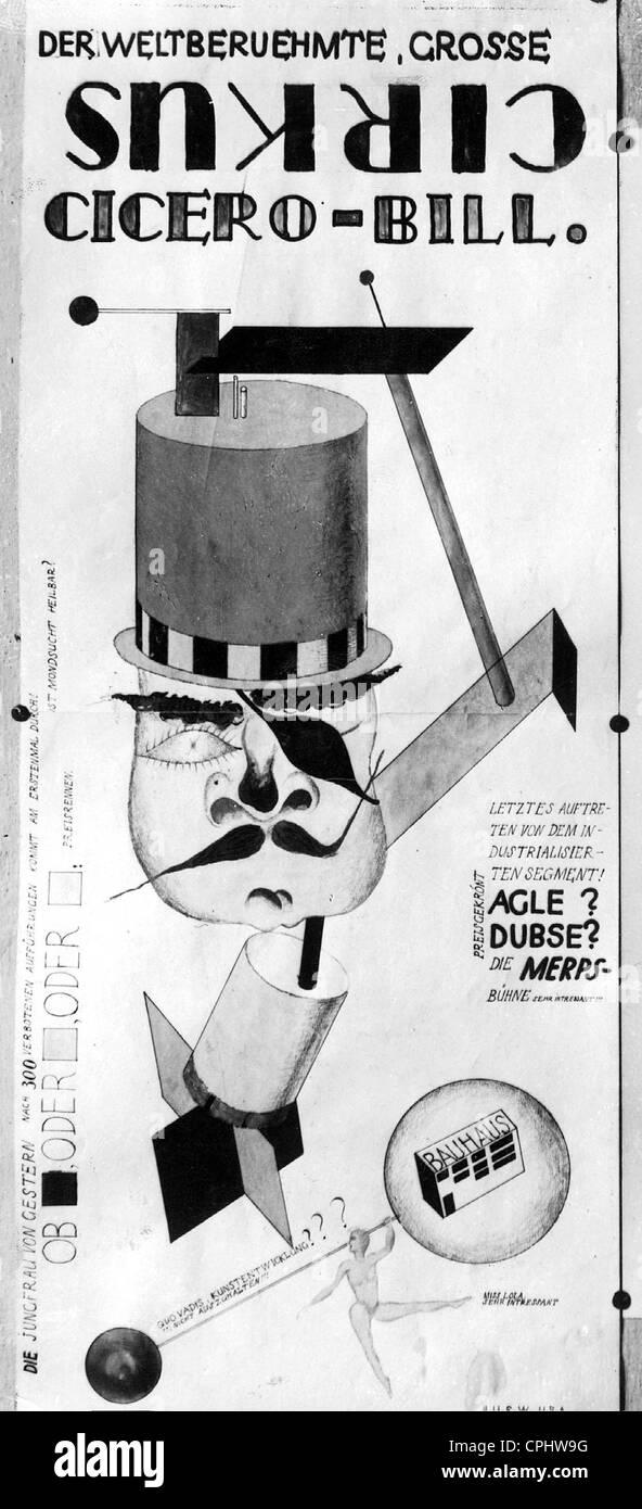 Poster advertises Bauhaus festival - Stock Image