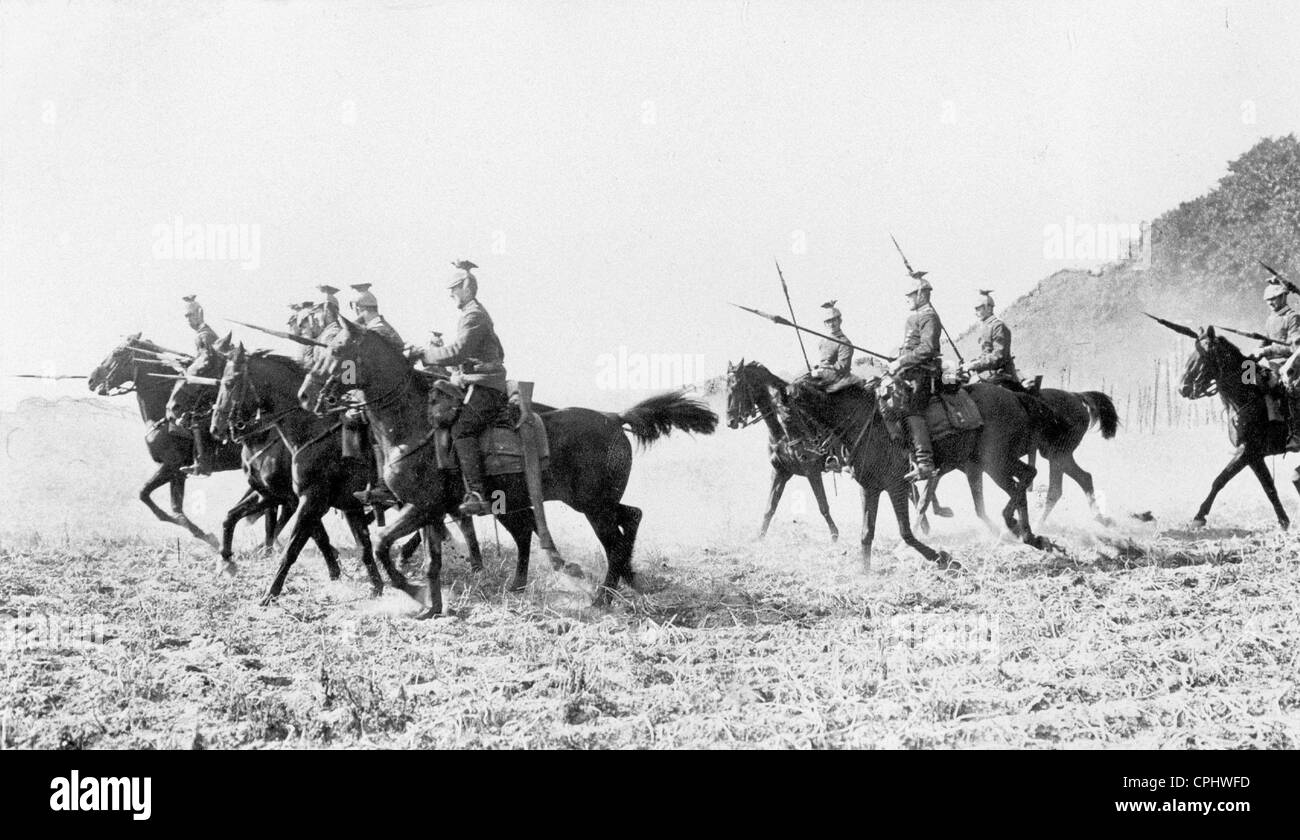German cavalry in the First World War, 1914 - Stock Image
