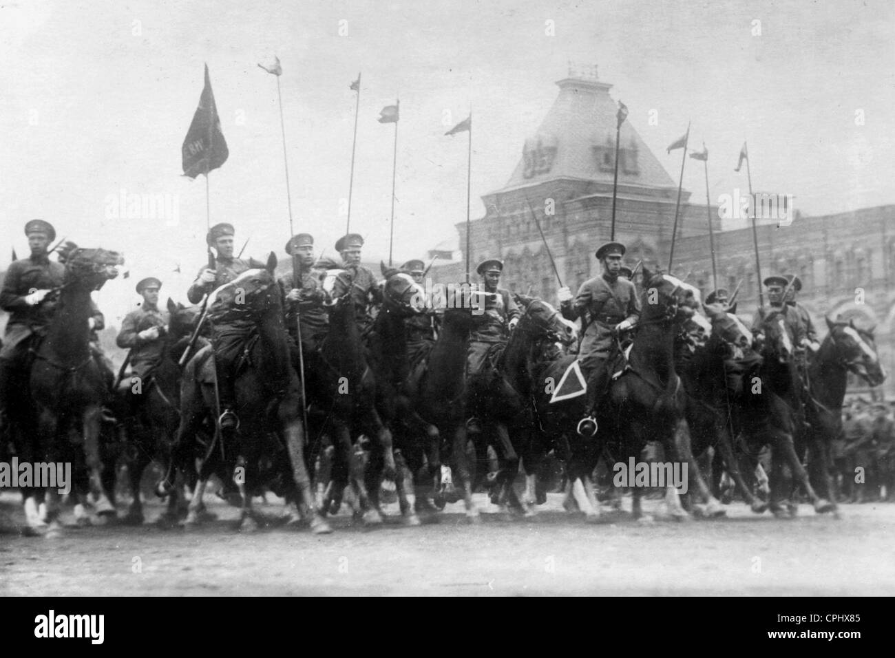 The cavalry on parade - Stock Image