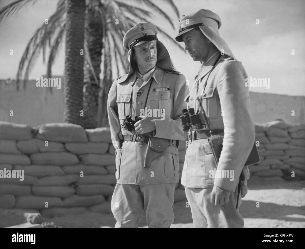 Hans Nielsen and Joachim Gottschalk in 'Aufruhr in Damaskus', 1939 - Stock Image