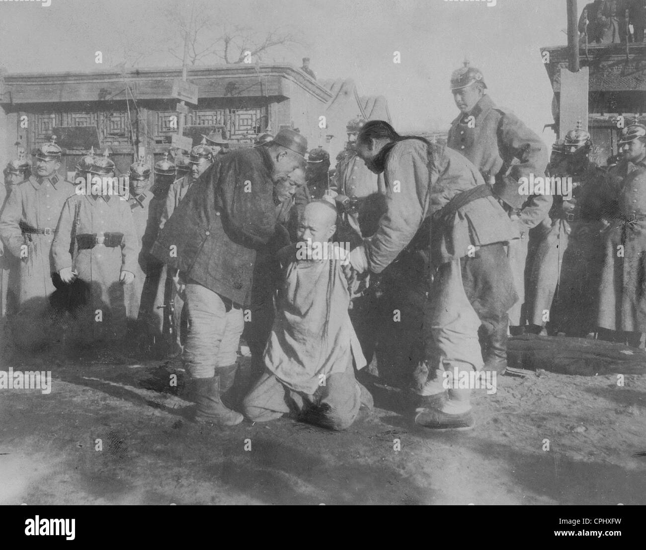 Executions during the Boxer Rebellion, 1900 - Stock Image