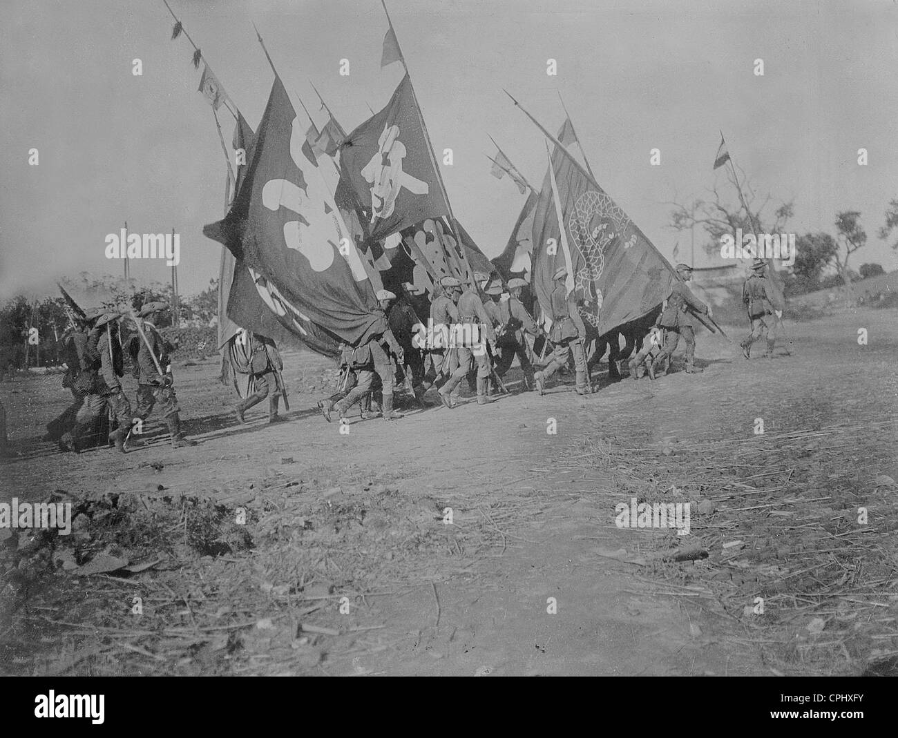 First East Asian Infantry Regiment during the Boxer Rebellion, 1900 - Stock Image