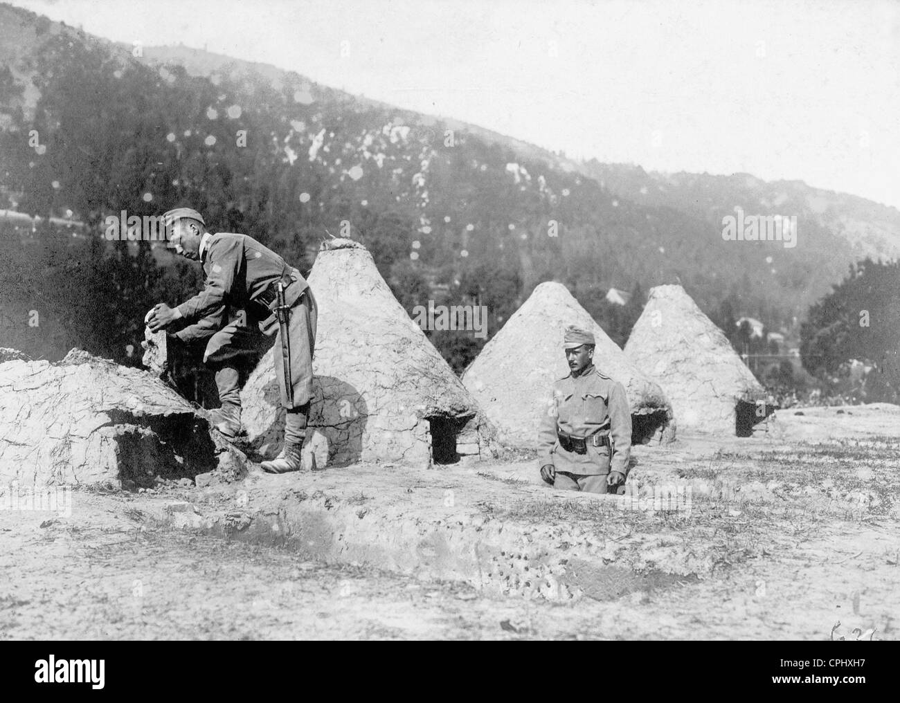Bread provision of the Austro-Hungarian troops - Stock Image
