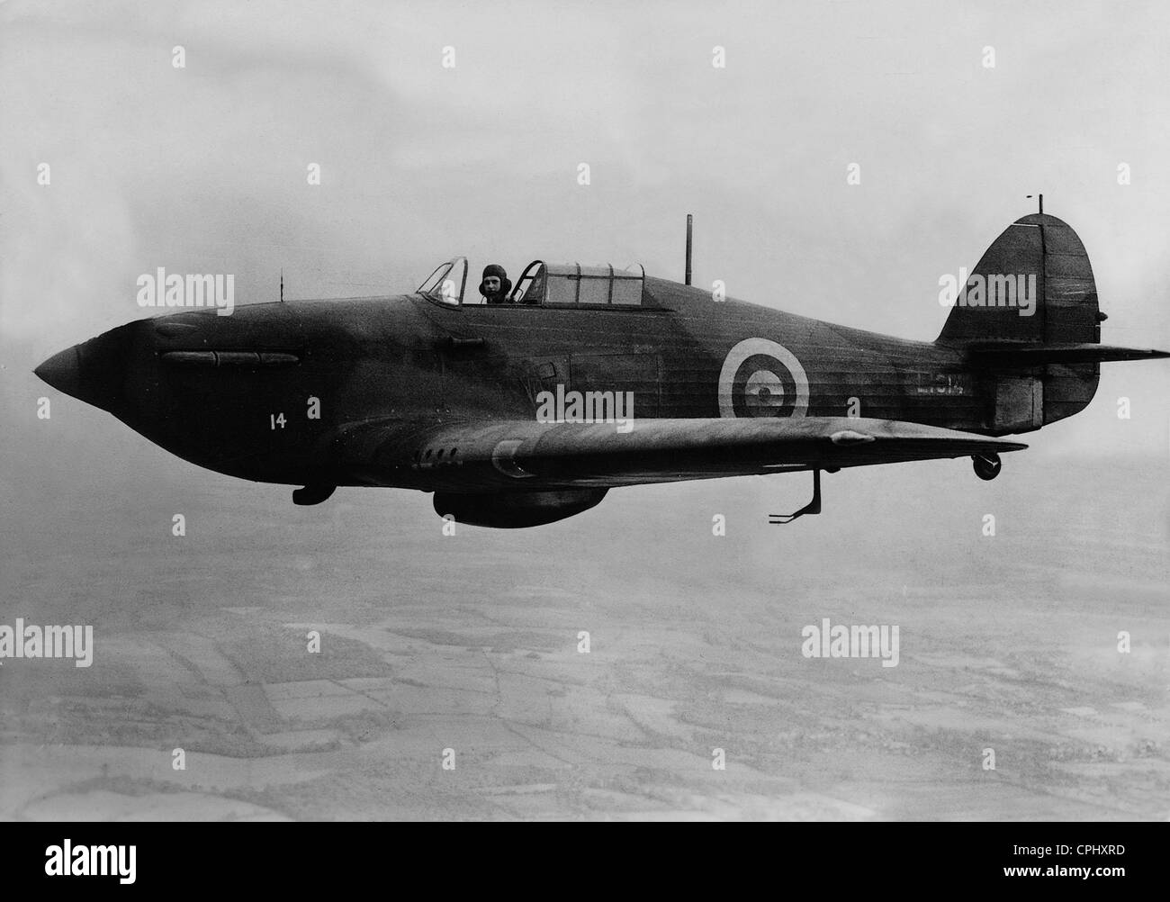 British Hawker 'Hurricane' Fighter Plane, 1938 - Stock Image