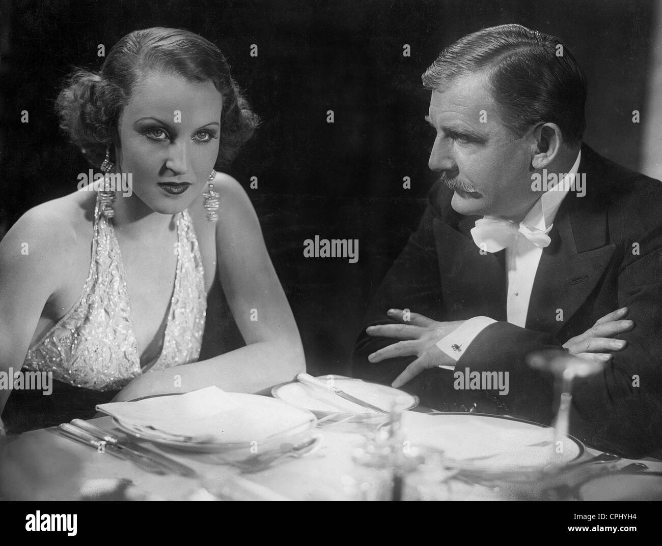 Brigitte Helm and Rudolf Forster in 'The Countess of Monte-Christo', 1932 - Stock Image