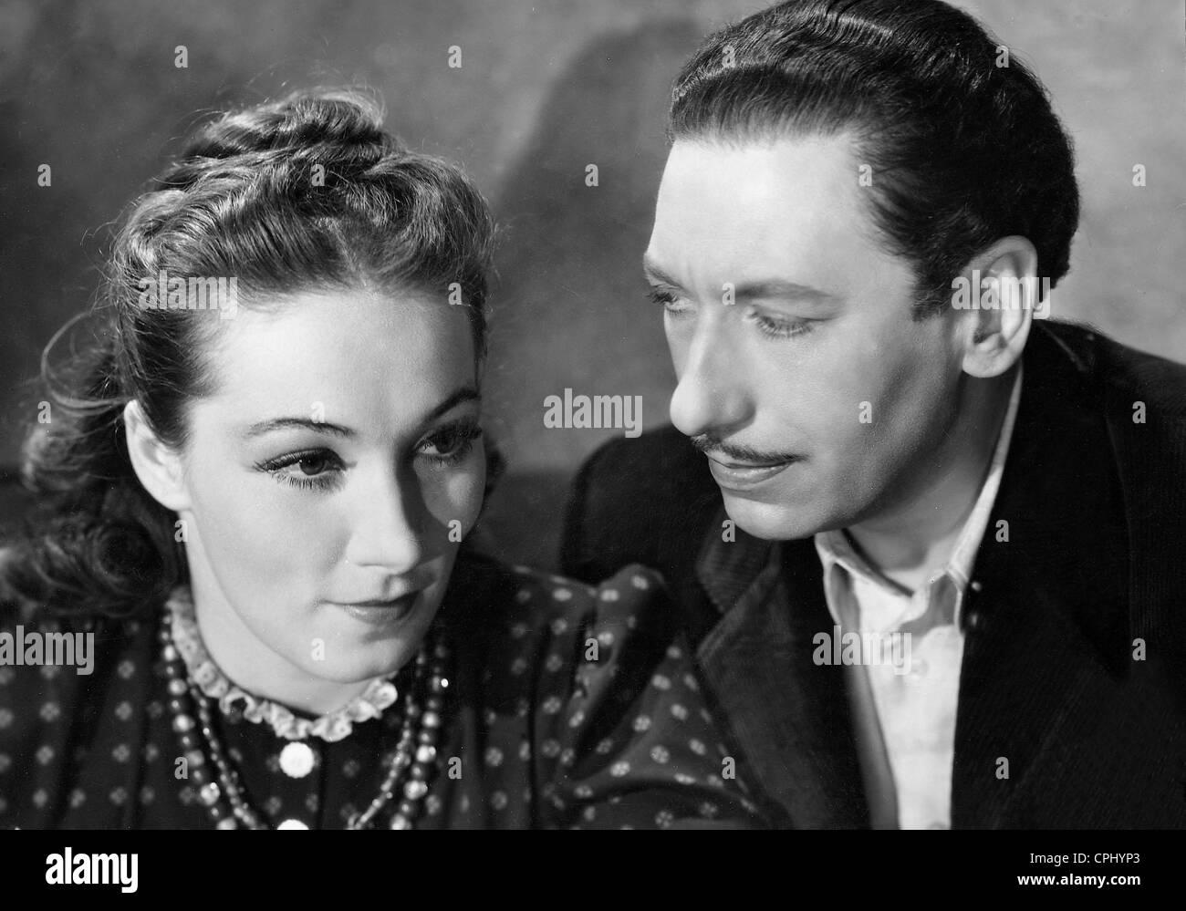 Brigitte Horney and Willy Birgel in 'Enemies', 1940 - Stock Image