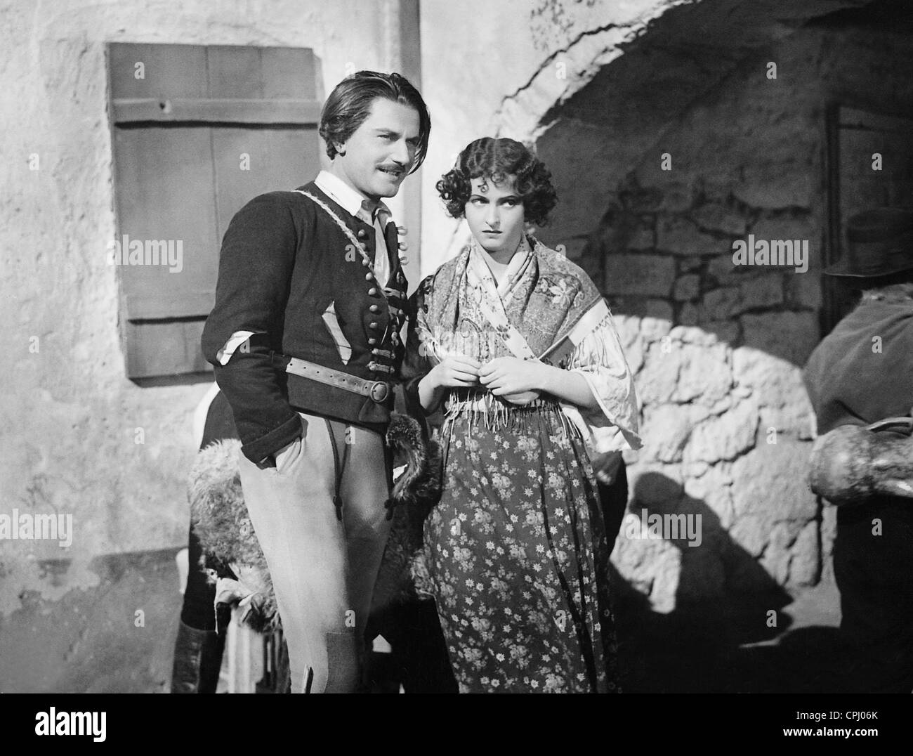 Adolf Wohlbrueck and Hansi Knoteck in 'The Gypsy Baron', 1935 - Stock Image