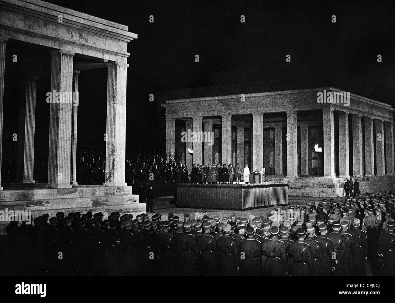 Swearing in of the political leaders of the Nazi Party in Munich, 1936 - Stock Image