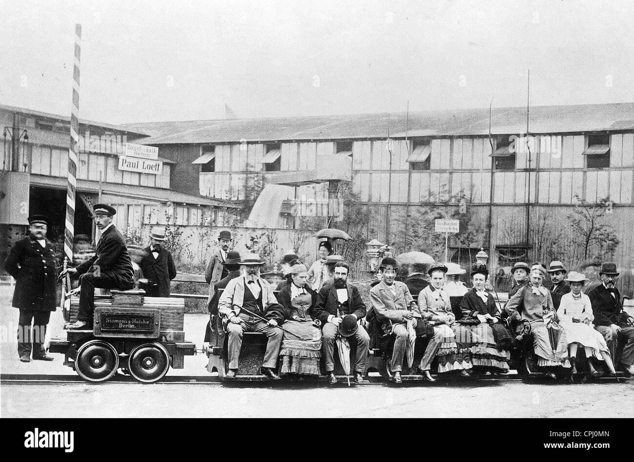 Electric locomotive, 1879 - Stock Image