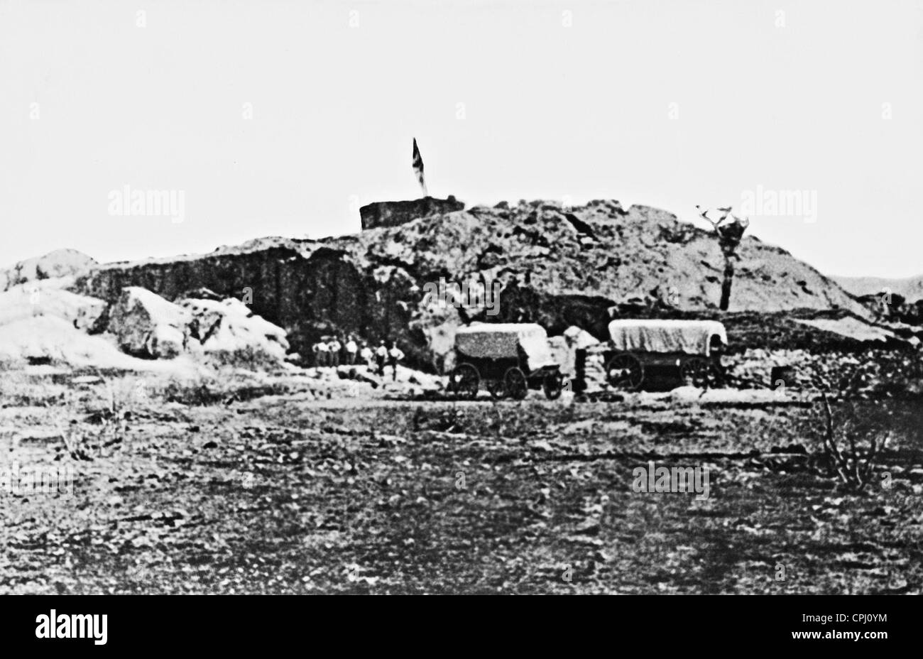 Wilhelmsfeste fortress near Tsaobis, 1889 Stock Photo