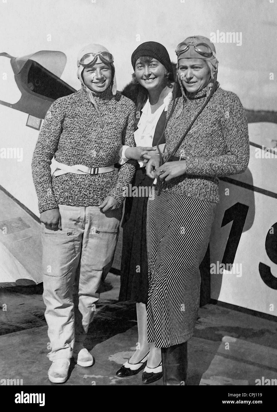 Lisel Bach, Elly Beinhorn and Thea Rasche, 1932 - Stock Image