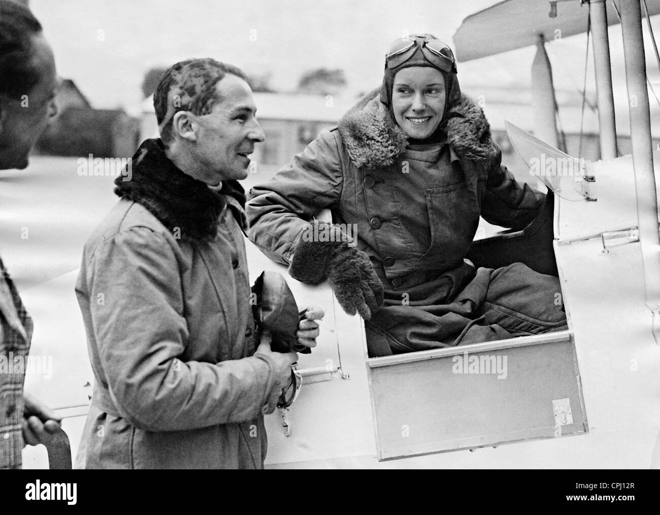 Jean Batten and Edward Walter, 1935 - Stock Image