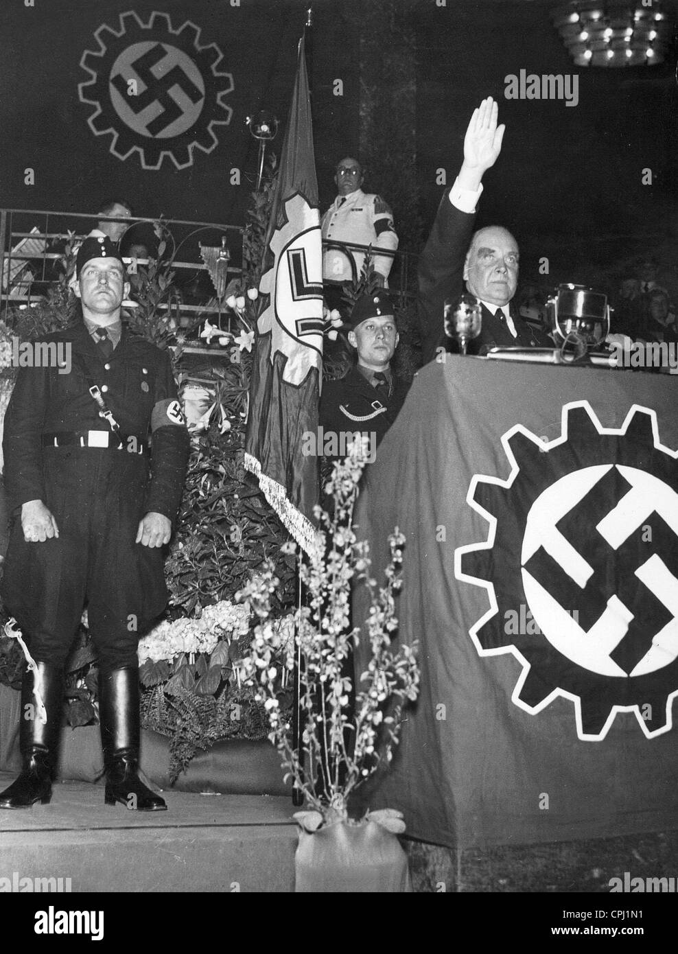 Celebration of the 1st May of the Berlin Schultheiss brewery, 1937 - Stock Image