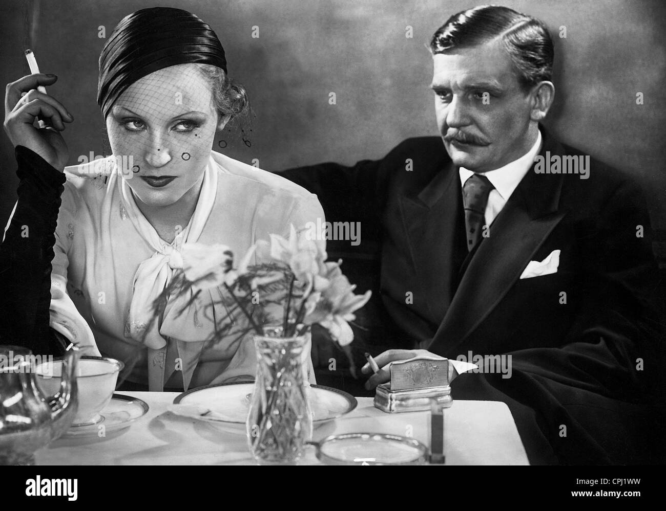 Brigitte Helm and Rudolf Forster in 'The Countess of Monte Christo', 1932 - Stock Image