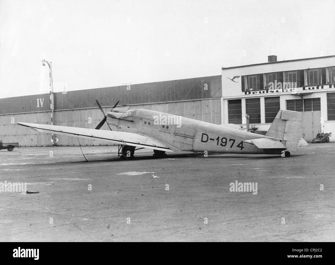 First version of the Junkers Ju 52 in Dessau, 1931 - Stock Image